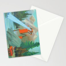 Robot in Landscape #1 Stationery Cards