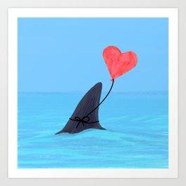 Original Shark Love Design Art Print