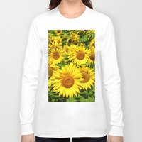 sunflowers Long Sleeve T-shirts featuring Sunflowers. by Assiyam