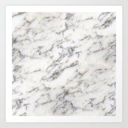 Marble: Black and Tan Veins on Chardonnay Art Print