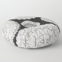 Snowflake Floor Pillow