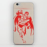 superman iPhone & iPod Skins featuring Superman by jfaiscquejveux