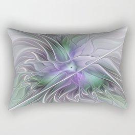 Abstract Floral Fractal Art Rectangular Pillow
