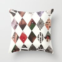 diamonds Throw Pillows featuring DIAMONDS by Brandon Neher