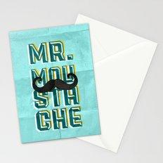 mr moustache Stationery Cards