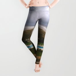 Stormy Weather at the Beach Leggings