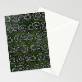 Green Serpent snake Stationery Cards