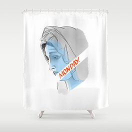 MONDAY Shower Curtain