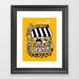 Cat Nap Cafe Framed Art Print