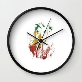 "Unique Retro Animal Design A Nice Illustration Of A Lion King ""Lion King"" T-shirt Jungle Animal Wall Clock"