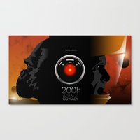 2001 a space odyssey Canvas Prints featuring 2001 - A space odyssey by Martin Woutisseth