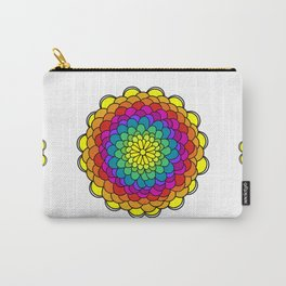 Rainbow flower Mandala Carry-All Pouch