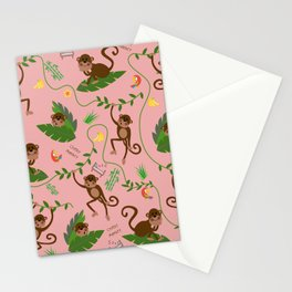jumping cheeky monkeys 02 Stationery Cards