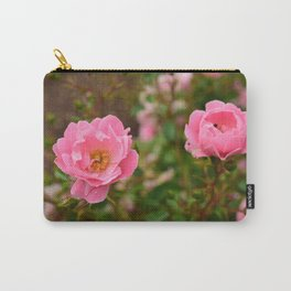 Pink Wild Roses Carry-All Pouch