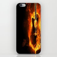 guitar iPhone & iPod Skins featuring Guitar  by wowpeer