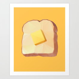 Toast with Butter polygon art Art Print