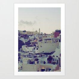 Fira at Dusk IV Art Print