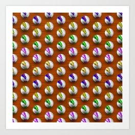 Marbles on Wood Pattern Art Print