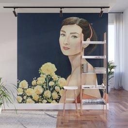 les temps doux  Audrey Wall Mural