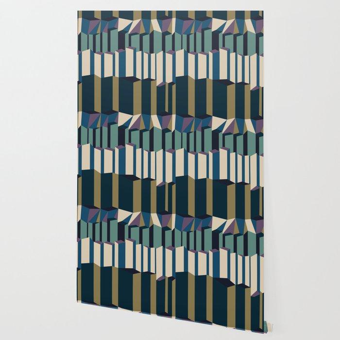 Straight Geometry City 2 Wallpaper