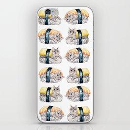 Sushi cat pattern iPhone Skin
