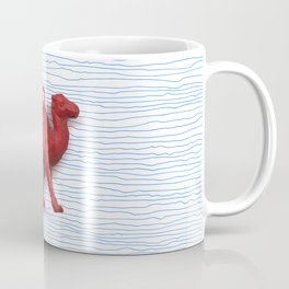 Genetically challenged camel trying to cross the blue mirage Coffee Mug