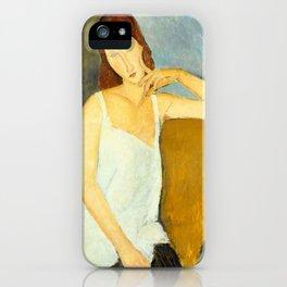 """Amedeo Modigliani """"Jeanne Hebuterne"""" iPhone Case"""