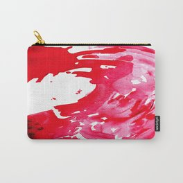 The One Who Came by Water and Blood. Watercolor Red Wave Carry-All Pouch