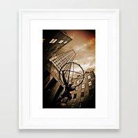 atlas Framed Art Prints featuring Atlas by Chad Madden