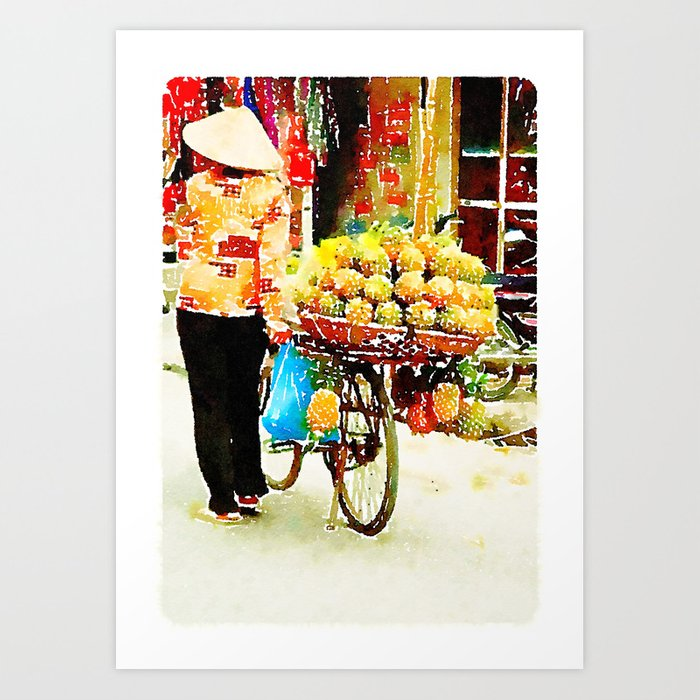 Pineapple Lady in Hanoi Art Print