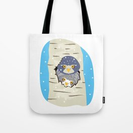 Winter owls. Tote Bag