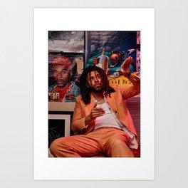 J Cole Poster, Dreamville Art, Music Poster, Hip Hop Print, Home Decor, Rapper Wall Art, Custom Poster, Canvas Poster, Rolled Canvas Art Print