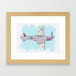 RAF Desert Kittyhawk Arcraft watercolor by Ahmet Asar Framed Art Print