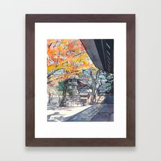A shrine in autumn Framed Art Print