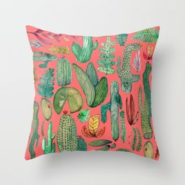 Summer Nature in Pink Throw Pillow