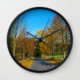 Autumnal feeling of October Wall Clock