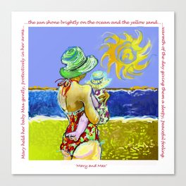'Mary and Max' (Saw Sea Art Series) Canvas Print