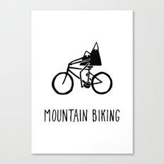Mountain Biking Canvas Print