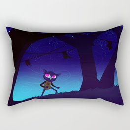 Night In The Woods Rectangular Pillow