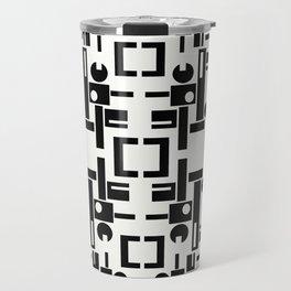 Black and White Geometrics  Travel Mug