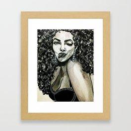 Curly Hair Framed Art Print