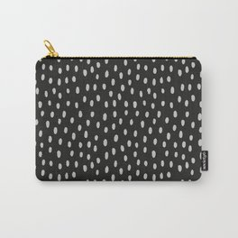 Hand painted black gray watercolor brushstrokes pattern Carry-All Pouch