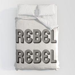 Rebel Rebel Art Print Comforters