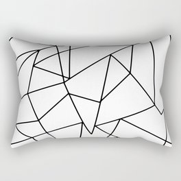Simple Modern Black and White Geometric Pattern Rectangular Pillow