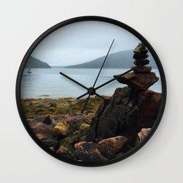 Acadia Cairn Wall Clock