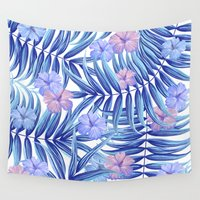hawaiian Wall Tapestries featuring Hawaiian Pattern by Marta Olga Klara