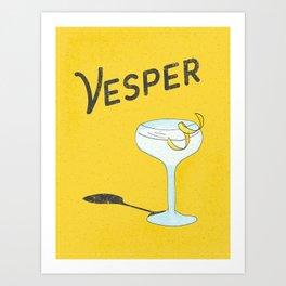 Vesper Martini with a Twist Art Print