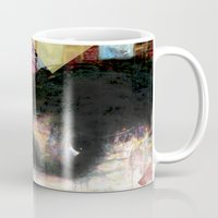 johnny cash Mugs featuring Johnny Cash by Glen Ronald