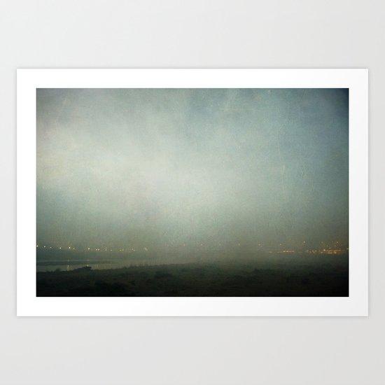 Fog Over The River Art Print