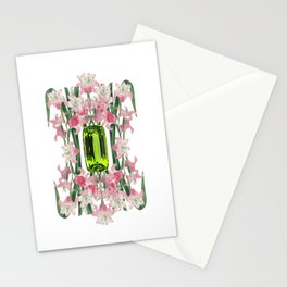 AUGUST/ Birth Stone & Flower Stationery Cards